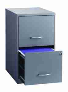 Lockable 2 drawer filing cabinet by Space Solutions