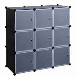 cube storage organizer with doors