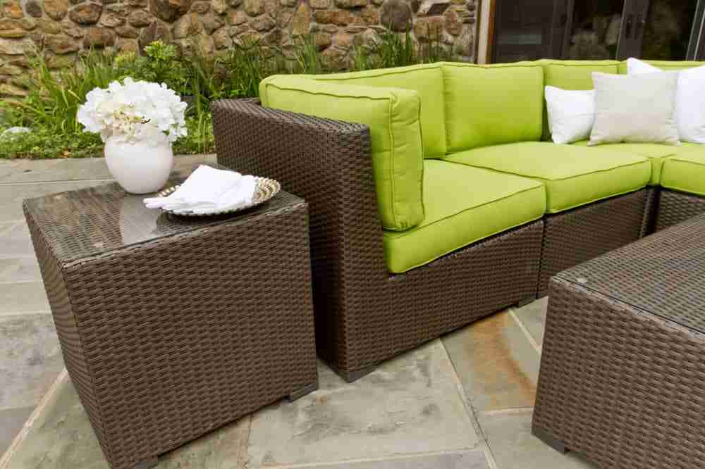 garden dp rattan furniture set com lawn wicker pc seat sofa amazon cushioned patio outdoor
