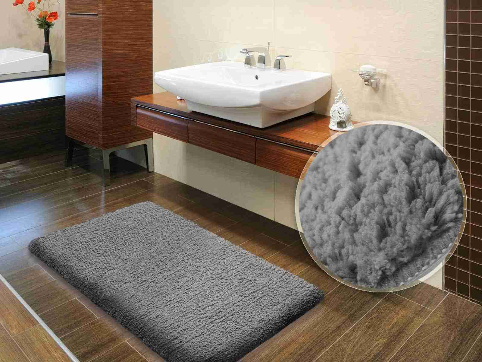 Best Bathroom Floor Mats Reviews - Gray bathroom rug sets for bathroom decor ideas