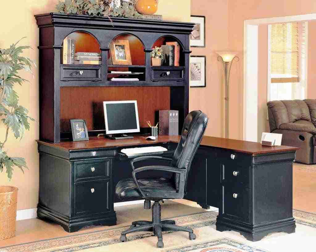 Mainstays L Shaped Desk With Hutch Affordable Medium