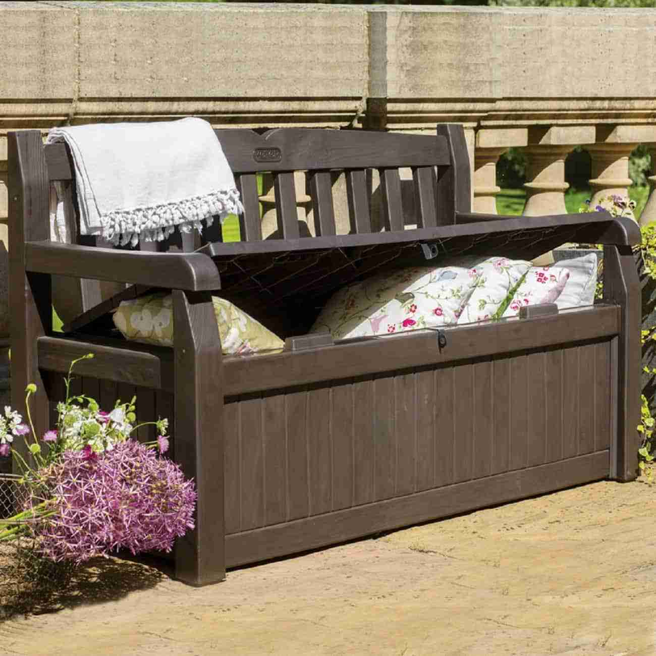 best outdoor storage bench image