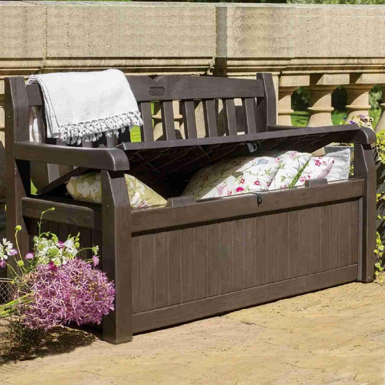 best outdoor storage bench image