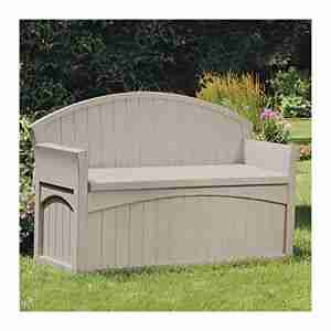 best gray outdoor storage bench with back