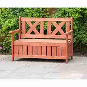 best wooden outdoor storage bench