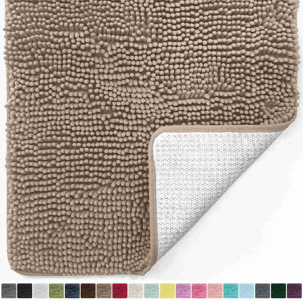 gorilla grip chenille bath rug mat image
