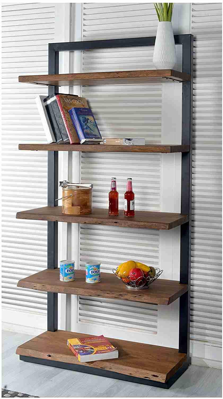 acacia wood bookcase image