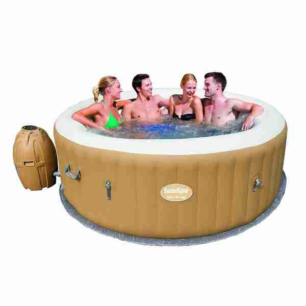 6 person inflatable hot tub by SaluSpa
