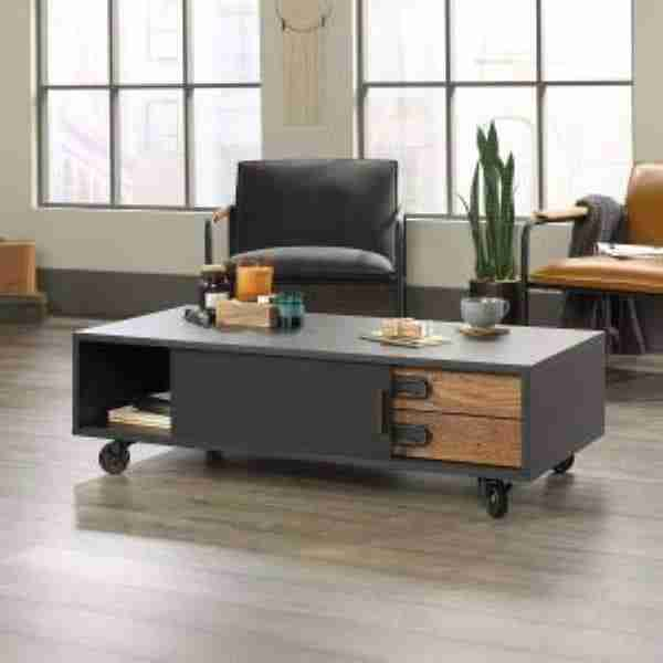 adjustable coffee table on wheels