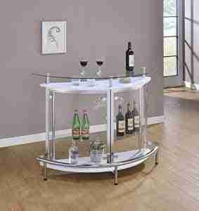 clear acrylic corner cabinet bar review