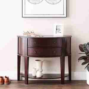 best entry sofa demilune table review