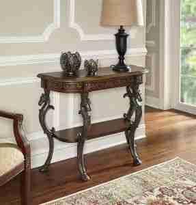 best ornate demilune table