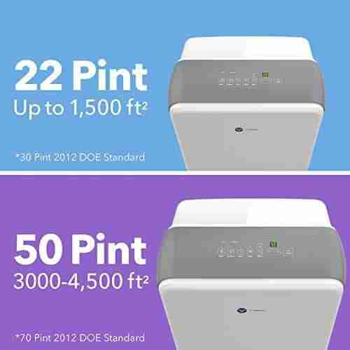 22 and 55 pint dehumidifiers by vremi