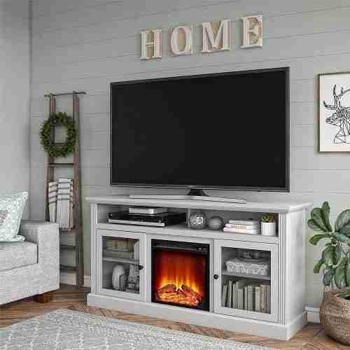 ameriwood electric fireplace tv stand reviews