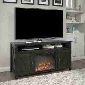 ameriwood farmington electric fireplace tv stand review