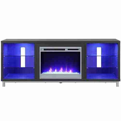 ameriwood lumina electric fireplace console