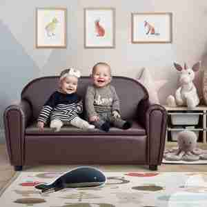 leather couch for infants and kids