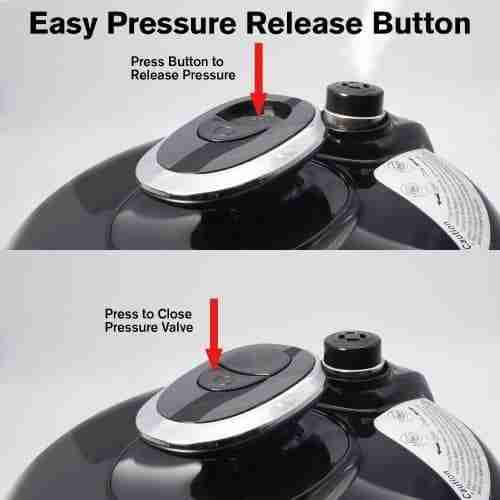 cosori pressure release button reivew