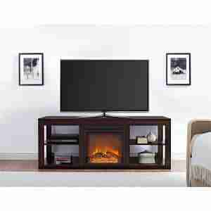 review of cheap ameriwood electric fireplace tv stand