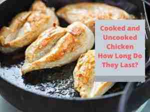Cooked and Uncooked Chicken   How Long Can It Last?