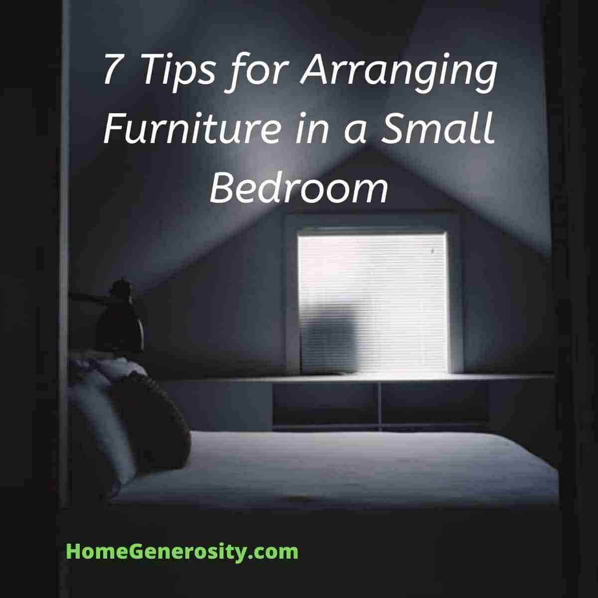 7 tips for arranging furniture in a small bedroom