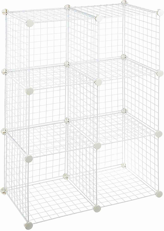 amazonbasics grid wire storage cube shelves image