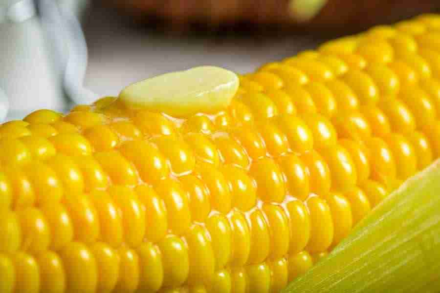 butter on corn