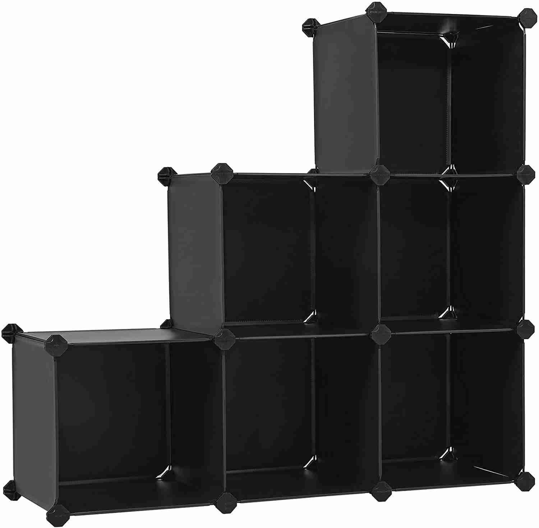 songmics 3 tier storage cube organizer image