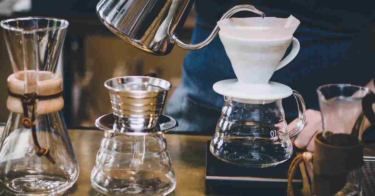 pour over coffee making