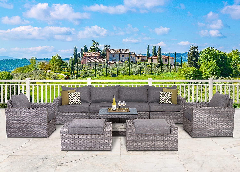 sunhaven resin wicker outdoor patio set
