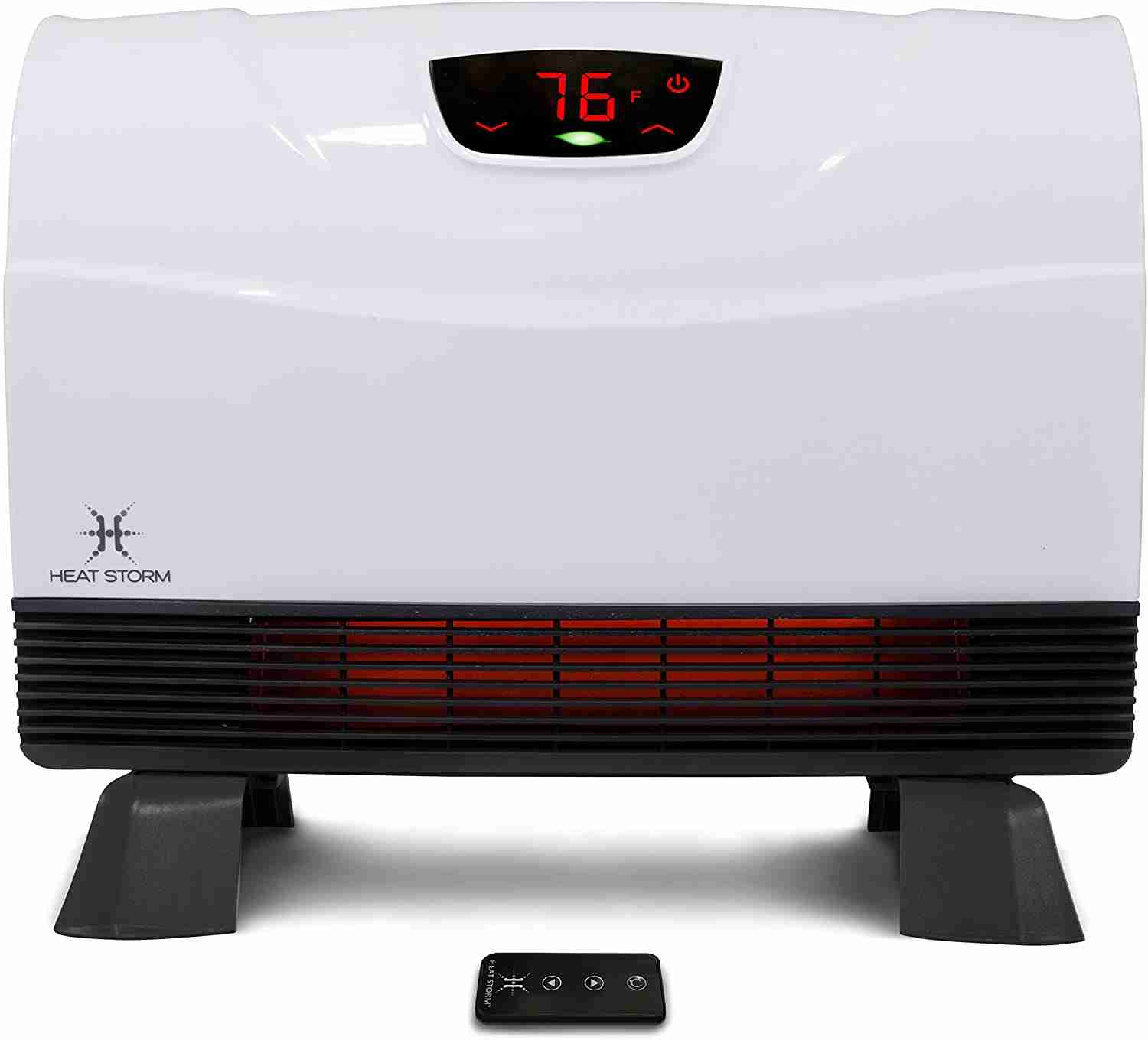 heat storm phoenix infrared space heater with attachable feet